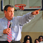 Chris Christie pointing