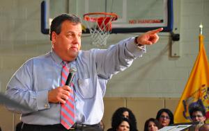 Chris Christie pointing