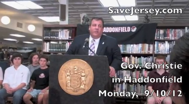 More from Chris Christie's Haddonfield Education Presser (VIDEO)
