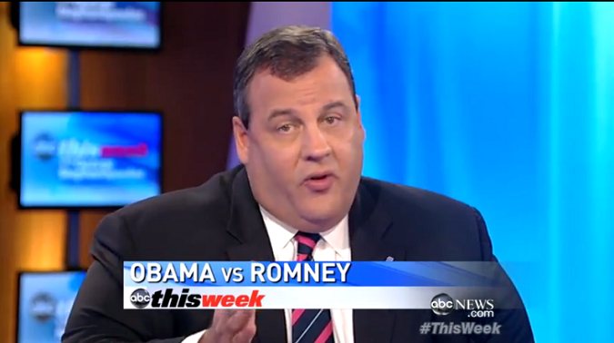 """ABC's This Week: Governor Christie Predicts """"Brand New Race"""" After Wednesday's Debate (VIDEO)"""