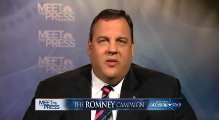 Christie Defends Romney, Slams Obama on 'Meet the Press' and 'Face the Nation' (VIDEO)