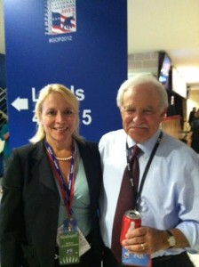 Susanne with WPVI's Jim Gardner at the 2012 GOP Convention in Tampa, Florida.