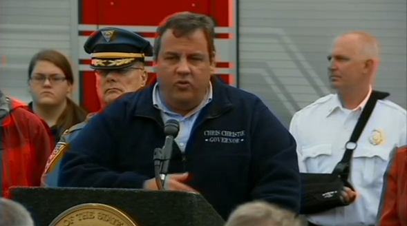 Christie Declares State of Emergency as Hurricane Sandy Approaches