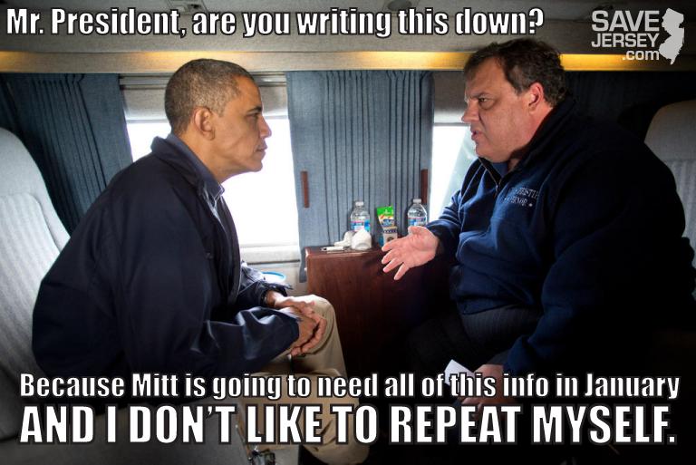 Christie Obama Meme what chris christie really said to barack obama on tuesday