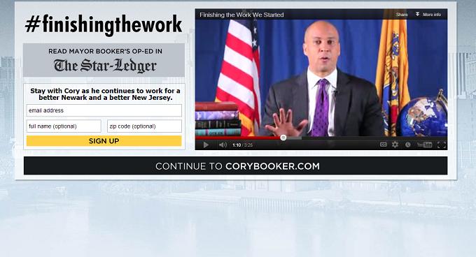 Booker Balks at 2013; Will Explore U.S. Senate Run for 2014 (UPDATED)