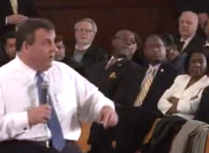 Fired up Christie at Town Hall