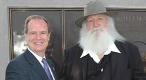 Mattheussen (left) with Walt Whitman actor