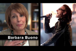 Bono (right), not Buono (left).