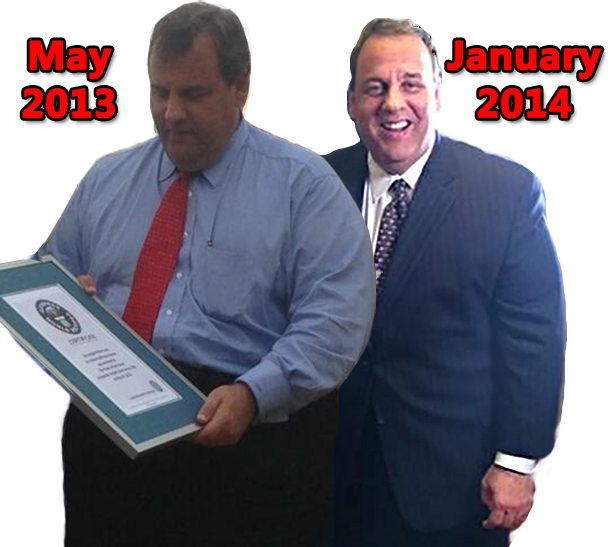 nj gov christie weight loss
