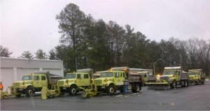 Salem County NJDOT road crews prepare to combat a winter storm. (Photo credit: @GovChristie)