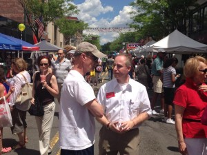 Brian Goldberg campaigns at the Summit Street Fair
