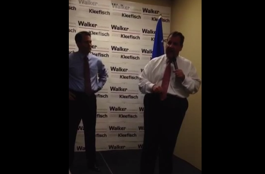 "Christie in WI: ""This One is Personal"""