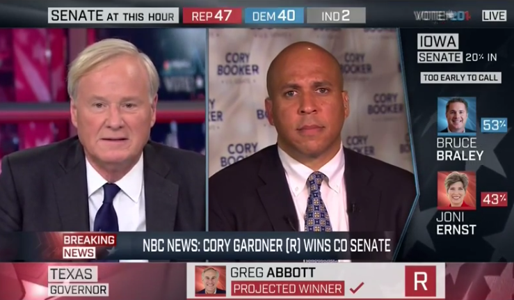 "Matthews cries on Booker's shoulder over ""pissant"" Senate"