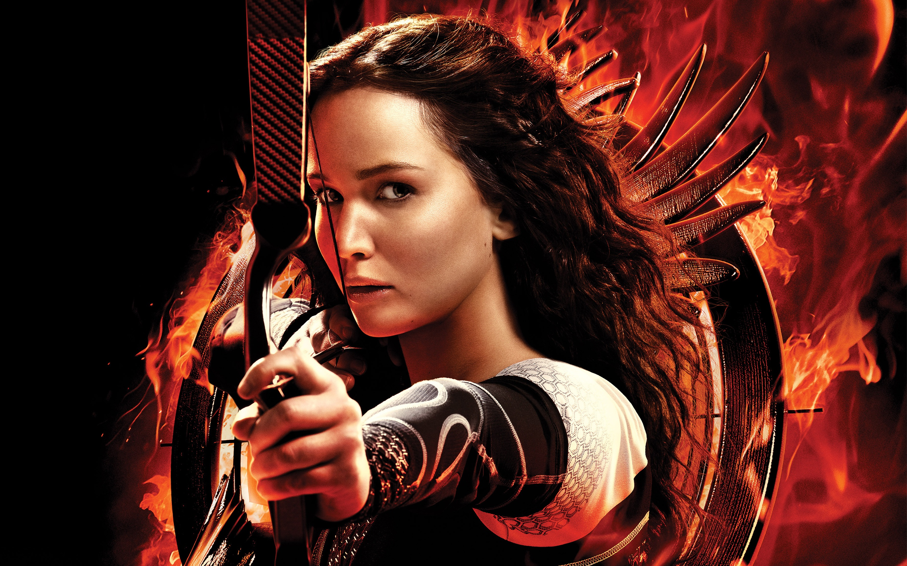 Katniss Everdeen, the protagonist of the 'Hunger Games' movies portrayed by Jennifer Lawrence.