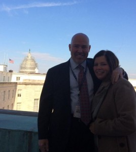 Tom MacArthur (left) with his wife at his D.C. office.