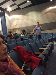 A Marlboro resident asking for Victoria Dean's resignation from the Marlboro Board of Education. Contrary to reports of 300 people present, there were about 125 people in the 622 seat Marlboro Middle School Auditorium