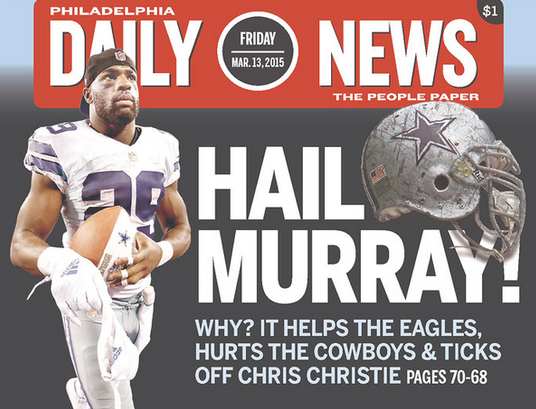 Eagles' Murray acquisition elicits jabs at Christie