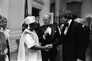 Jenner (right) with then-President Gerald Ford