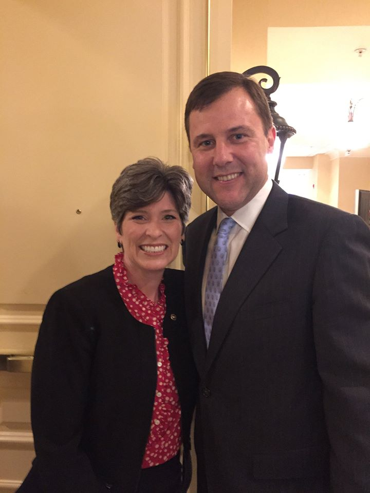 Ernst mixes with NJ GOP leaders in Hamilton