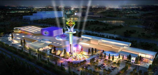 Concept art for the proposed Meadowlands-based Hard Rock Casino