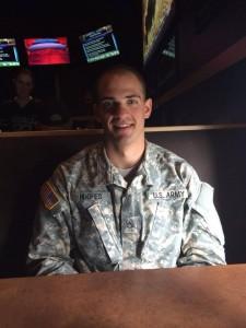 Blake in army uniform - 11-11-14