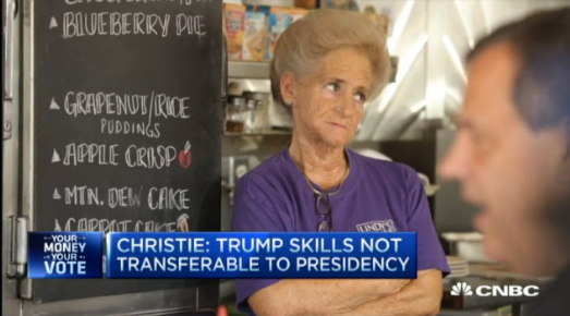 Christie dumps on Trump during diner stop interview