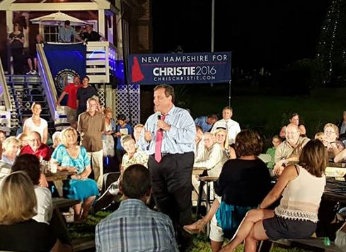 It's official: Christie moving up in New Hampshire