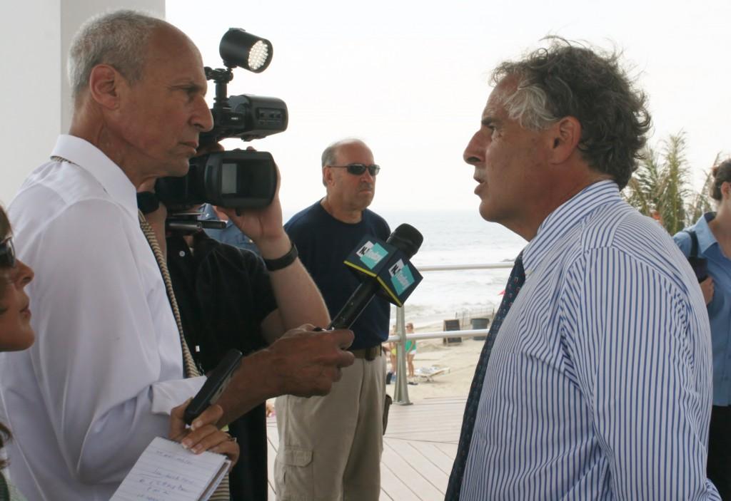 NJTV's Michael Aron interviews Long Branch Mayor Adam Schneider. MMM file photo