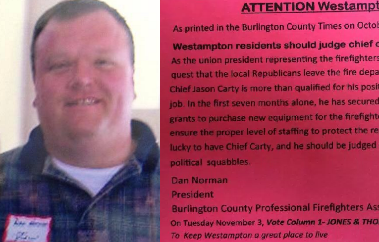 UPDATE: Union boss resigns after Westampton Democrat mailer fiasco