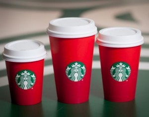 The red cups... (Photo credit: Starbucks.com)