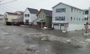 Jonas storm flooding in Sea Isle, New Jersey.