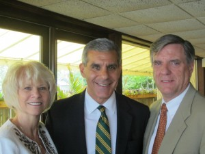 Haines (left) with Joe Kyrillos and George Gilmore in May 2012 (Photo credit: Rhoda Chodosh)