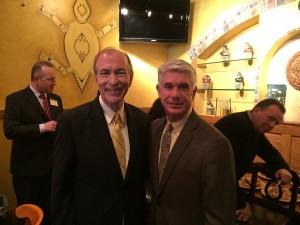 Rooney (right) with Congressman Scott Garrett.