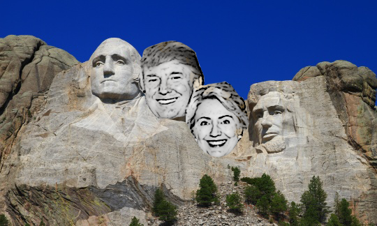 rushmore trump clinton