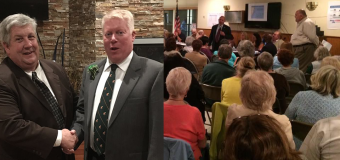 CD3 candidates converge in Brick for very different evenings