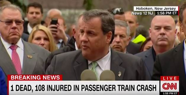 Christie urges patience in wake of Hoboken's NJ Transit train crash