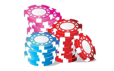 casino blackjack poker chips