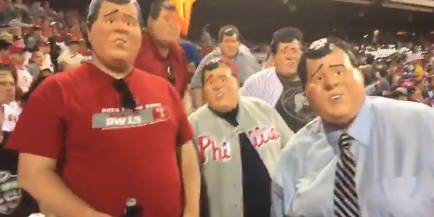 WATCH: Phillies Fans Troll Christie During Monday's Mets Game