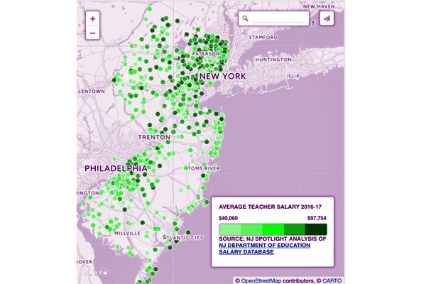 Interactive Map: Teacher, Administrative Salaries Edge Higher Across the State