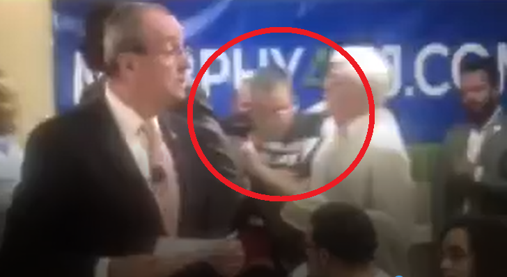 VIDEO: Murphy town hall takes violent turn?
