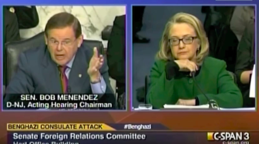 AWKWARD: Hillary flies in for Menendez on same day underage prostitution allegations resurface