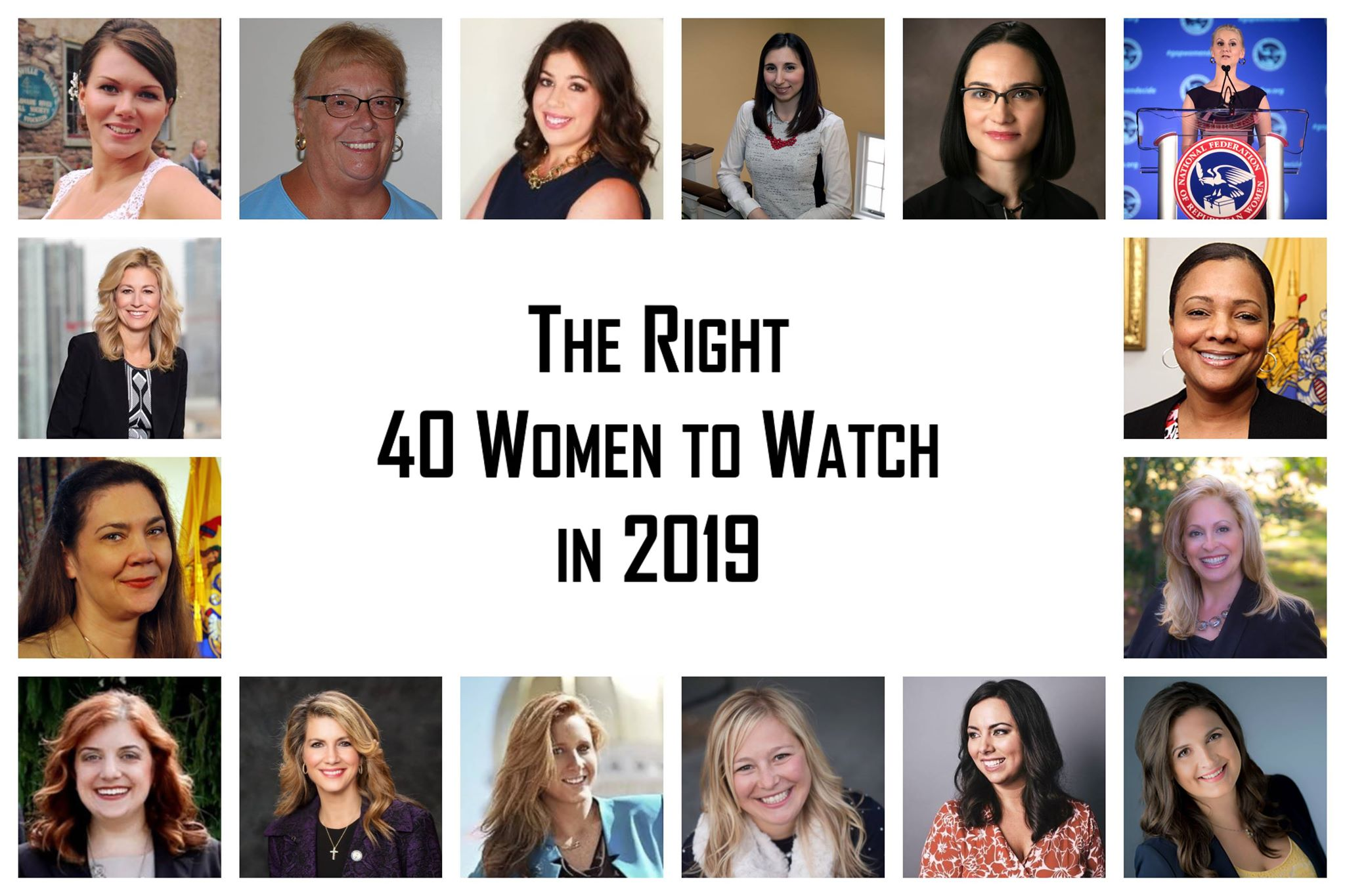 The Right 40 Women to Watch in 2019