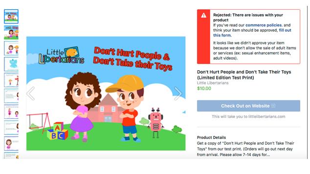 """Facebook said this Libertarian children's book constitutes """"adult"""" content"""