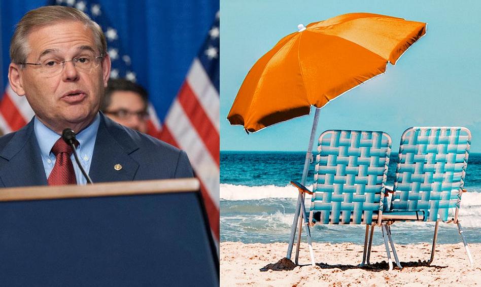 Menendez redeclares war on beach umbrellas