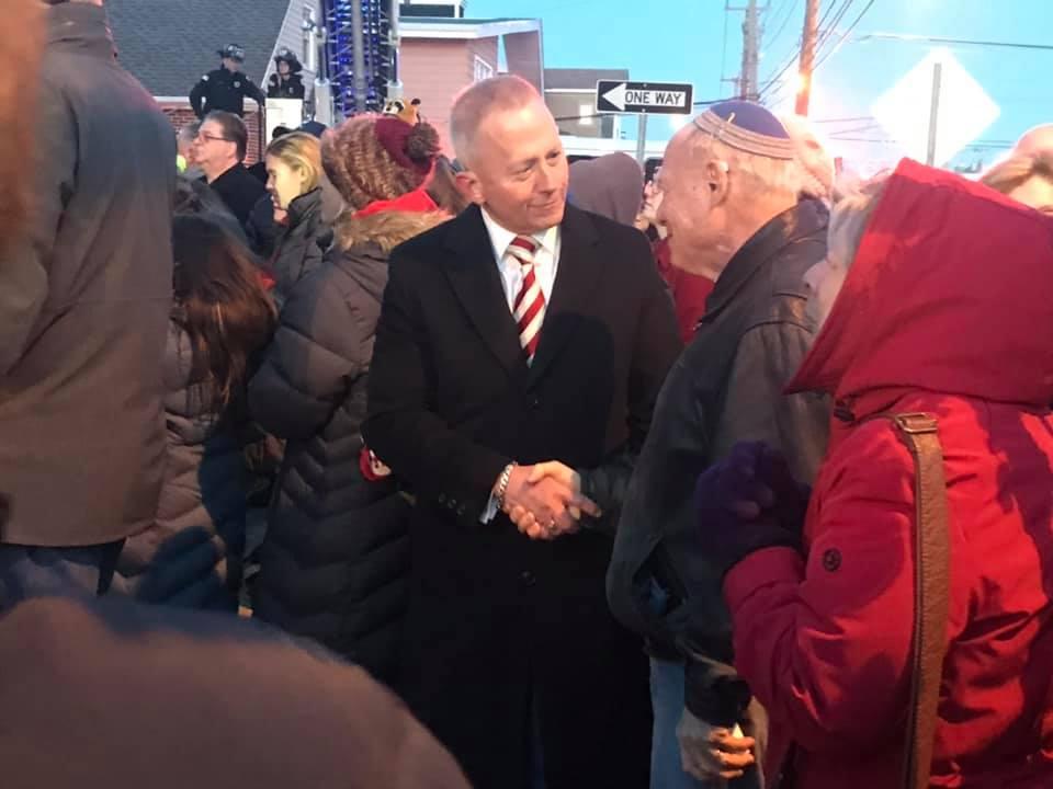 NJ-02: Newly-minted Republican Van Drew attends Ventnor City's Menorah lighting