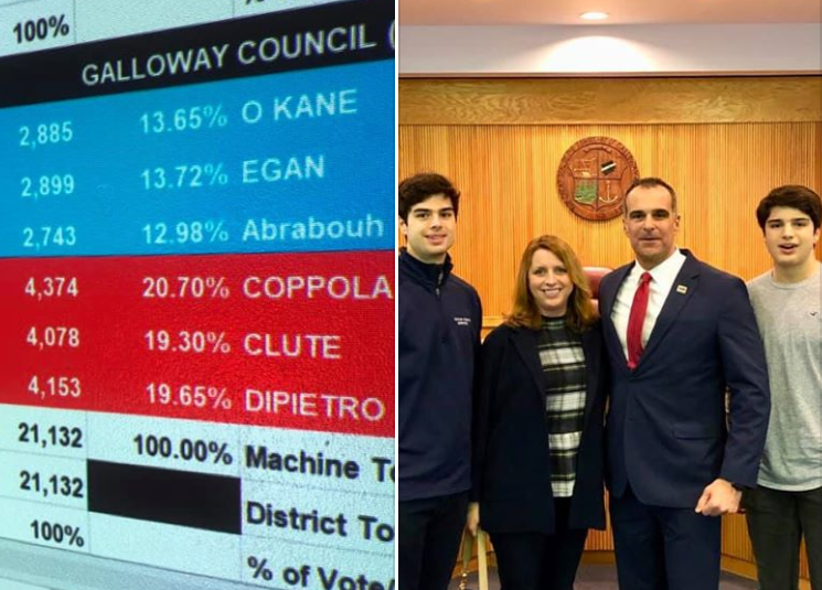 Former Galloway Mayor vows to be a watchdog after fellow GOP'er hands control to the Democrats