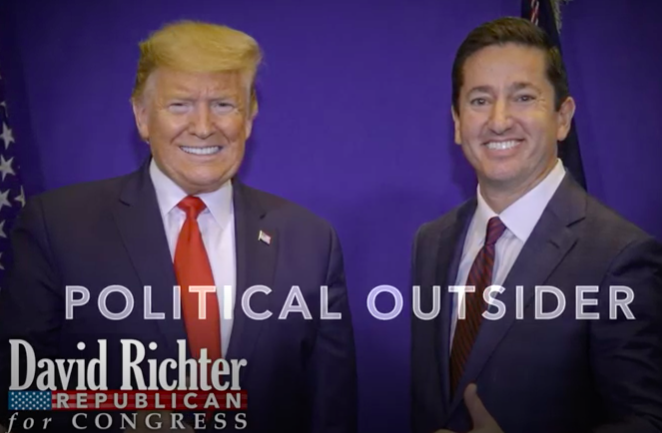 "NJ-03: Richter embraces Trump, ""outsider"" label in positive primary TV spot"