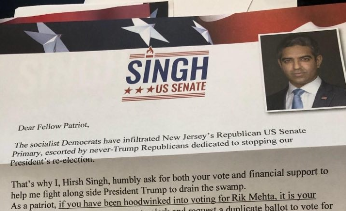 Senate candidate instructs voters to request 'duplicate' ballot if they voted for his opponent