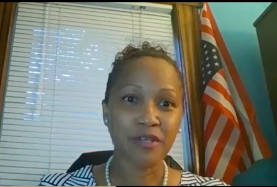 Freeholder candidate keeps posing with an upside down American flag