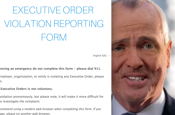 Murphy launches new online form for reporting COVID-19 executive order violators